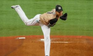 大谷投手のフィニッシュをみると股関節がしっかり回っています。