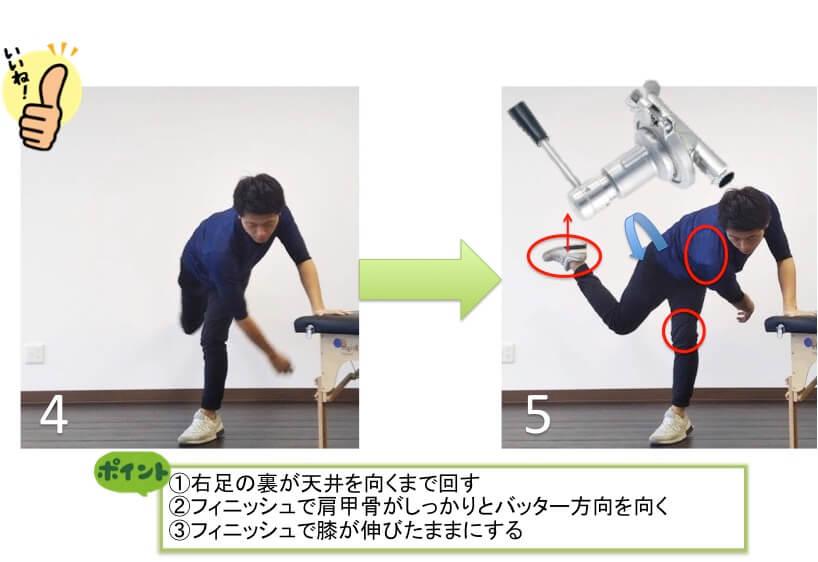 体全体を大きく使うフィニッシュの形を手に入れて球速アップにつなげましょう