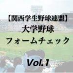 【関西学生野球連盟】大学野球投手の連続写真フォームチェック