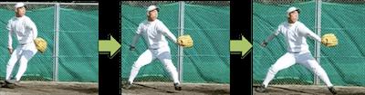 棘下筋は上の写真のような腕の位置が低いテイクバック初期(腕の上げ始め)で多く活動するのではなく、リリースやフォロースルーなど腕の位置が高いときにたくさん活躍しているということになります。