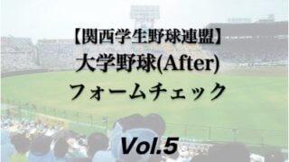 【関西学生野球連盟】大学野球投手の連続写真フォームチェック(After編)