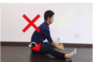 よくなり股割りの例。骨盤前傾を意識しよう