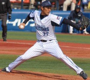 体重移動で軸足を使って加速できているプロ野球選手