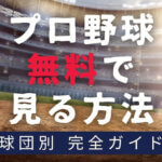 【2021年確定版】12球団別プロ野球を無料で見る方法とは?