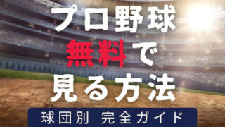 【全12球団網羅】プロ野球を無料で見る方法ってあるの?安心安全な配信サービスとは